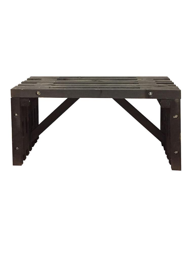 Rask LAND Trallebænk sort 120 cm - Køb Bord- og bænkesæt online | SILVAN RU-99