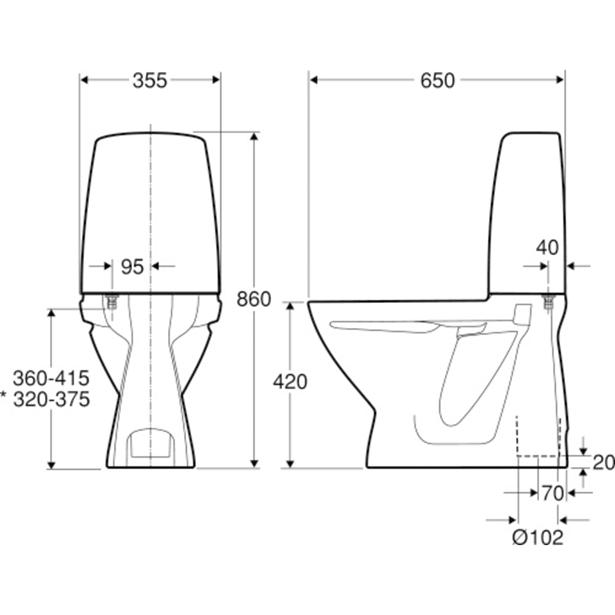 Seriøst IFÖ Sign toilet - Køb Stående toiletter online | SILVAN BF33